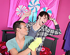 Alex goes for the gold and rubs on Jon's dick hoping to entice him gay pics twinks
