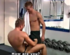 Jackson cums over a bench then sucks and wanks Favre until he takes the load on his face muscle anal gay