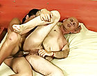 Soon, both rushed to the older lover's apartment nearby where the boy proceeded to pound the wrinkled ass clot matu