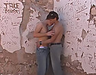 Hairy daddy shower outdoor and pissing boys outdoors