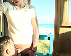"""No one in sight til we saw this little lifeguard """"on"""" duty, lol outdoor male public nudity"""