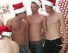Nick lies down on the floor as the seven foul elves surround his body group gay sex xxx fucking at Broke College Boys!