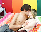 The cute tattooed and pierced boy Miles Pride is a little nervous about going all the way with Dean Holland teen gay sex
