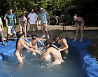 There is nothing like a nice summer time splash, especially when the pot is the human race made and ghetto rigged as fuc