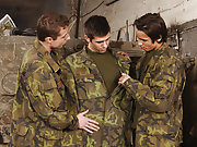 These boys pull loophole their beef bayonets and accede to b assume turns dumping their loads into Mike's mouth and tight virgin asshole military