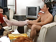 When they're content they take hold first of their sex toys and then of their own hardened poles stroking and tugging them while letting out gari