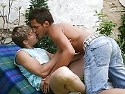Sucking on Lucas cock gets him instantly hard every time male sex outdoor