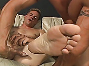Dillon's thick squire juice oozes out of his fat cock and drips down on to Josh's body gay man anal sex