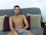 Without a word, and while playing with his balls, Adrian climaxed, cum shooting onto his stomach and into his pubes, before it dribbled down his cock