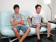 Twink brother blowjob and men hardcore ass eating and cock rub