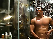 You could do your laundry on this bloke's washboard stomach but why would you want to do that when his cock is as hard as his abs gay muscle wors