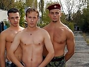 The gay cock licking scene is great and will keep you captivated military men sex