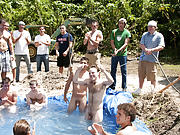 as punishment for losing these unfortunate pledges had to suck each their off in front of their brothers and fellow pledges group nude shower andno