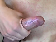 They start with some sensual kissing gay twink masterbatio