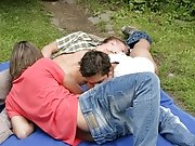 The three of them don't be sure why but suddenly they are turned on over one another nude outdoors gay
