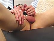 Jake strokes his cock lesiben gay masturbation
