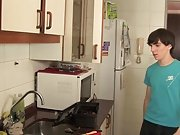 Twinks fucking at a kitchen very well boy on boy first time sex at Julian 18