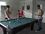 Horny Buds play a game of 'Strip Pool' then Fuck xxx gay twink spun
