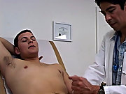 I lubed up the thermometer and inserted into his ass  golden shower fetish gay male
