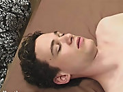 As he started stroking it he laid back on the bed, rubbing his balls with one had while using the other to work the duct of his tool gay interracial v