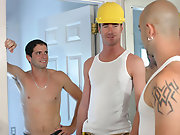 Sam is at it again as he breaks in the chocolate tight cocoa-hole off hot construction stud Zane fat amateur boy
