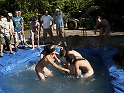 There is nothing  a nice summer time splash, principally when the pool is shackle made and ghetto rigged as fuck groups yahoo gay hairy