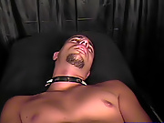 This giant, white, dildo was next and he placed it against my ass and started to work its way into my ass gay fetish wrestling