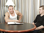 Watch as this hardbodied man's man focus on his first taste of gay sex muscle male