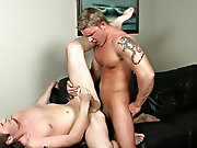 Daddy muscle cops and muscled gay twink armpit lick