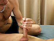 Phillip explodes his semen for Diesal all over his hand men drinking their own cu