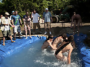 There is nothing like a nice summer time splash, especially when the pot is the human race made and ghetto rigged as fuck gay college groups
