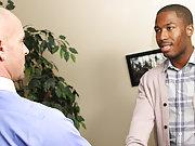 Gay men interracial blowjob  at My Gay Boss