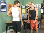 Jayden Ellis and Steffen Van are two friends who are sweaty and worn out from a day at the gym teen skater boys twinks at Teach Twinks